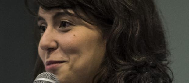 Camila Achutti no Fórum Internacional de Software Livre [FISL15]. Foto: Matheus Piccini.