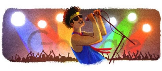 Desenho de Cazuza aparece na página de buscas do Google.