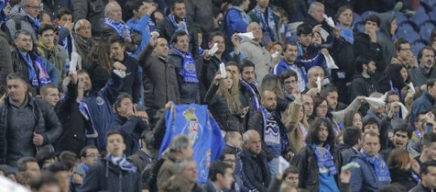 O desagrado dos adeptos do Futebol Clube do Porto.