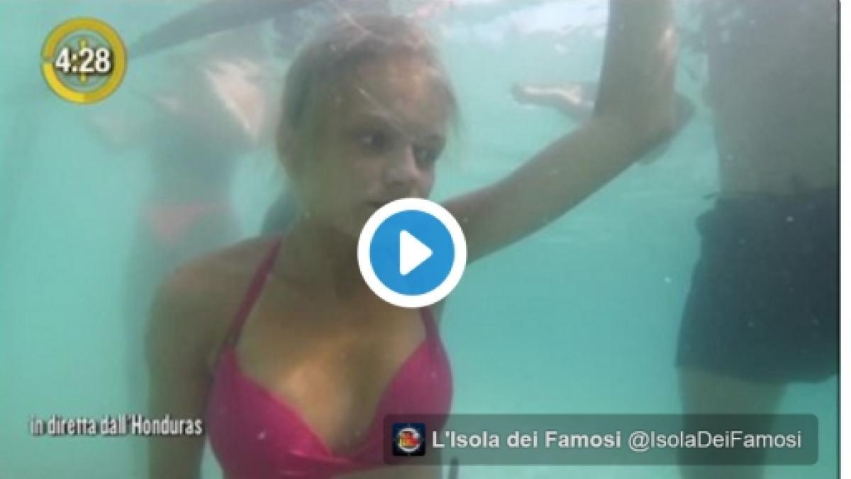 Isola dei famosi, video di Mercedesz Henger in apnea, grande paura in  diretta: il filmato