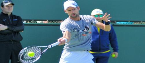 Djokovic during a training session last month/ Photo:Christian Mesiano (Flickr)