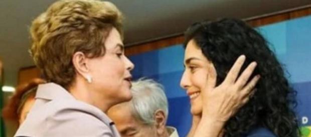Dilma e Letícia Sabatella - Imagem: Google