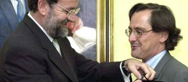 Mariano Rajoy (PP) y Marhuenda (La Razón).