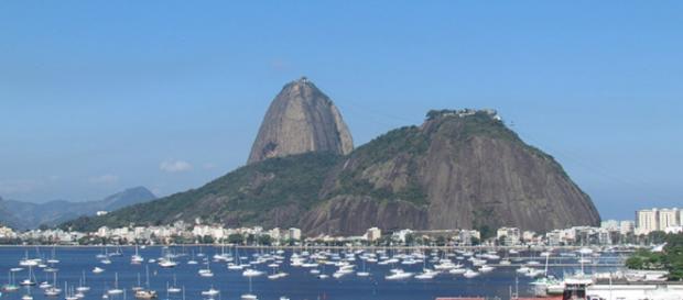 O Pão de Açúcar visto de Botafogo, no Rio de Janeiro
