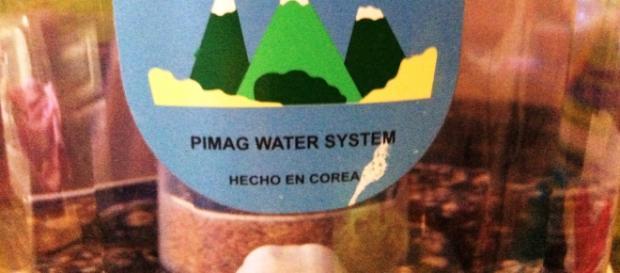 Producto hecho en Corea, sistema de agua que se vende en México