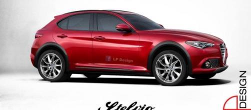 Alfa Romeo Stelvio: render di Lp Design