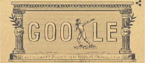 Doodle do Google em homenagem a primeira Olimpíada da Era Moderna.