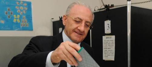 Il governatore della Campania, Vincenzo De Luca