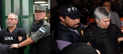 Momento de la detención de Lázaro Báez