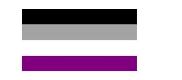 Bandera simbolo de la asexualidad