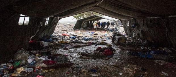 Campo de refugiados. Médicos Sin Fronteras