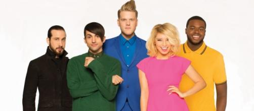 A cappella group Pentatonix, official publicity photo, photo courtesy of RCA Records