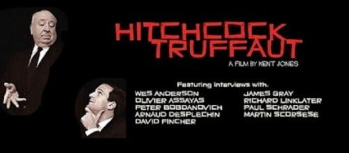 Alfred Hitchcock y François Truffaut, dos maestros del cine.