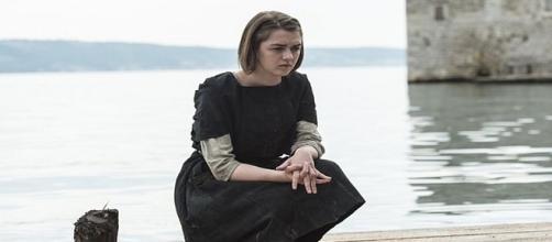 Arya Stark, en una escena de la quinta temporada