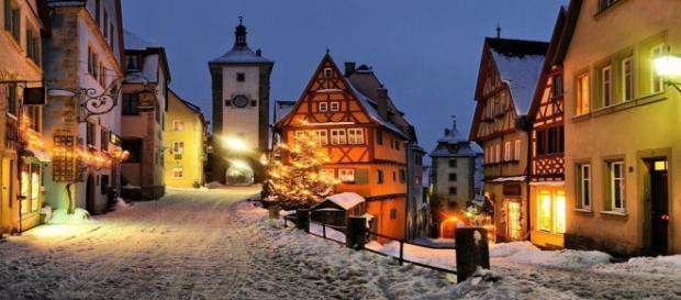 Alemania nevado durante el invierno