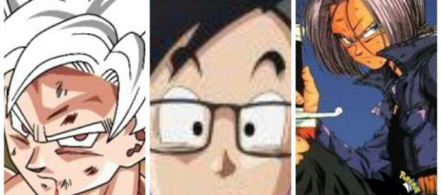 Goku version white, Gohan y Trunks