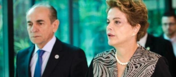 Ministro da saúde e Dilma Rousseff