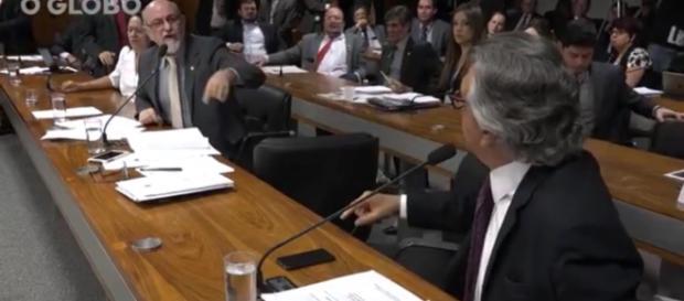 Senadores tem forte discussão - Foto/Reprodução