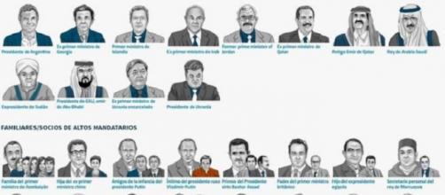 Algunos de los implicados en los 'Papeles de Panamá'.
