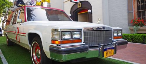 """The new Ghostbusters' vehicle, """"Ecto 1."""" It helps save the world."""