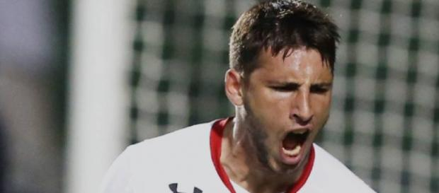 Calleri foi o artilheiro do último jogo pela Libertadores