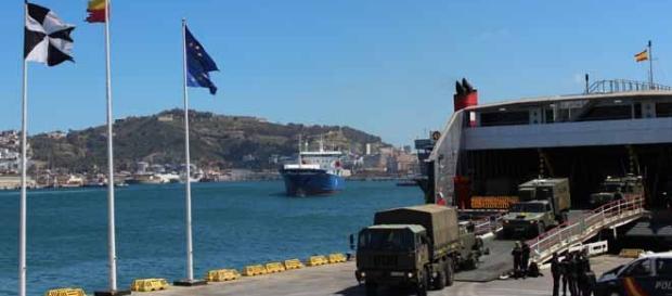 Simulacro en Ceuta. Foto: Comgeceu.