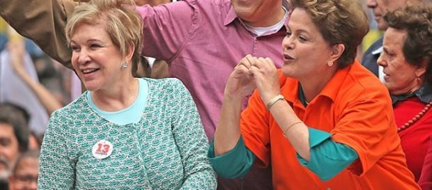 Marta e Dilma Rousseff - Imagem: Google