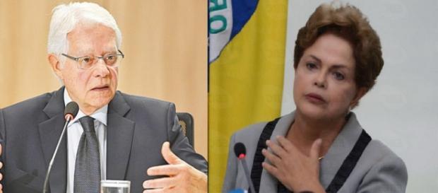 Moreira Franco e Dilma Rousseff - Foto/Montagem