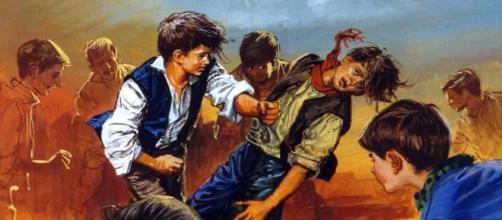 Cenas muito violentas entre jovens