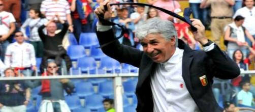 Gianpiero Gasperini felice dopo il 3-0 alla Sampdoria