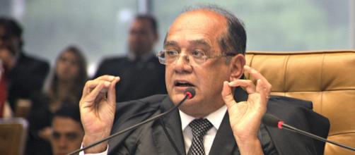 Ministro Gilmar Mendes durante sessão do STF