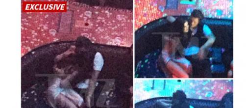 TMZ publicou fotos dos dois na festa