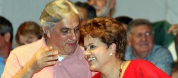 Delcídio e Dilma - Imagem/Google