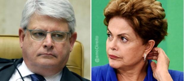 Janot e Dilma Rousseff - Foto/Montagem