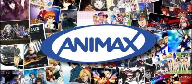 Logotipo de Animax y algunos de sus grandes títulos emitidos