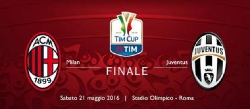 Finale di coppa Italia Milan-Juventus