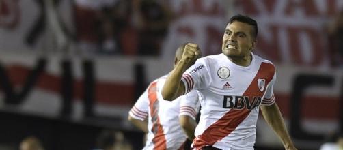 Gabriel Mercado celebrando una victoria de River (Foto: Taringa).