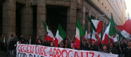 Manifestazione di Casa Pound Bolzano