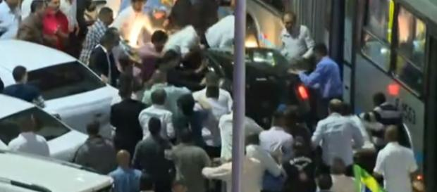 Foto: reprodução TV Globo do momento do ataque