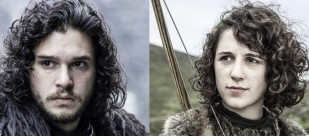 Jon Nieve y su supuesta hermana Meera