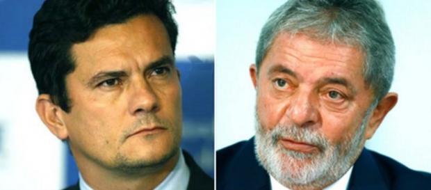 Moro e Lula - Foto/Montagem: Google