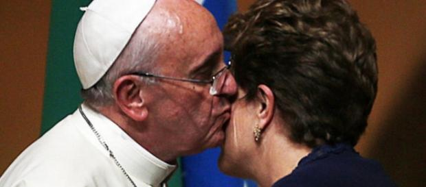 Papa Francisco e Dilma Rousseff - Imagem/Google