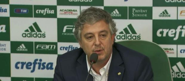 Paulo Nobre concede entrevista coletiva na Academia de Futebol