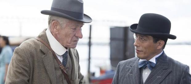 Sherlock Holmes confronts Tamiki Umezaki.