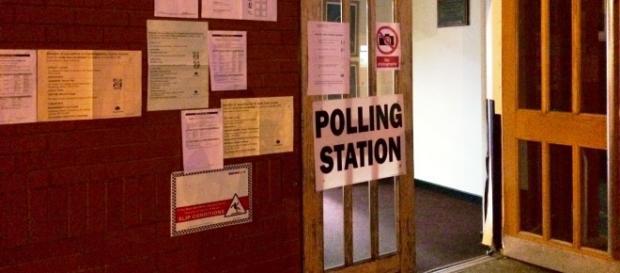 Un bureau de vote britannique comme ceux qui accueilleront le référendum du 23 Juin sur le Brexit