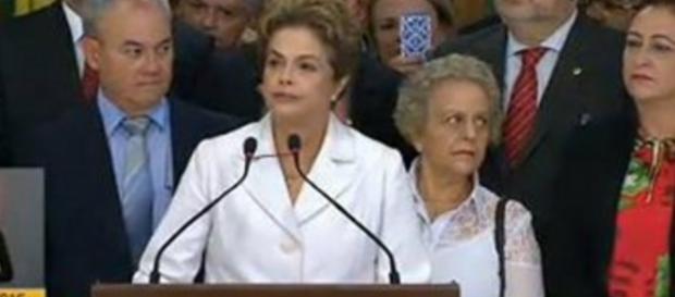 Dilma faz pronunciamento após afastamento - Foto/Reprodução: NBR