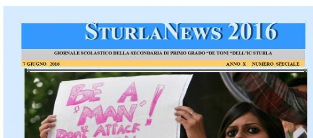 Mimmo Angeli ospite del giornale scolastico 'SturlaNews'.