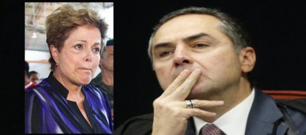 Ministro do Supremo Tribunal Federal e Dilma - Foto/Montagem