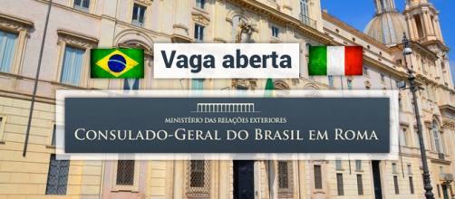 Consulado-Geral do Brasil em Roma está contratando - Foto: Reprodução Itamaraty