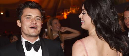 Katy Perry e Orlando Bloom insieme ai Golden Globes